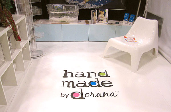 tradeshow booth flooring with logo