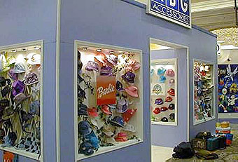 American Boy and Girl Accessories booth by Manny Stone Decorators