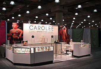 Carolee trade show booth by Manny Stone Decorators