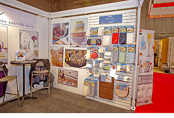 hard wall booth as provided by Manny Stone Decorators