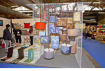 grid booth as provided by Manny Stone Decorators