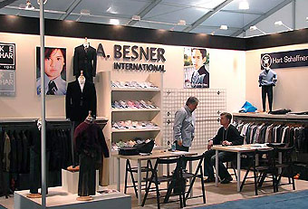 J.A. Besner trade show booth designed by Manny Stone Decorators