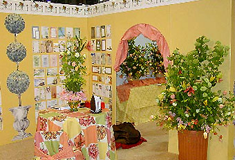 floral and product display by Manny Stone Decorators